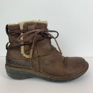 UGG Shoes - Ugg Cove Sherpa Lined Leather Boots
